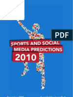 Sports Social Media Predictions 2010