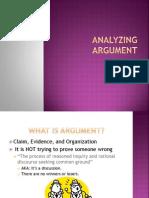analyzing argument