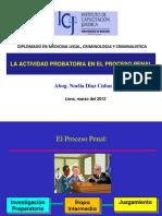 Actividad Probatoria en El Proceso Penal