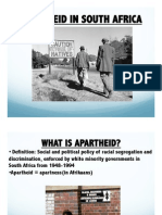 Apartheid Notes