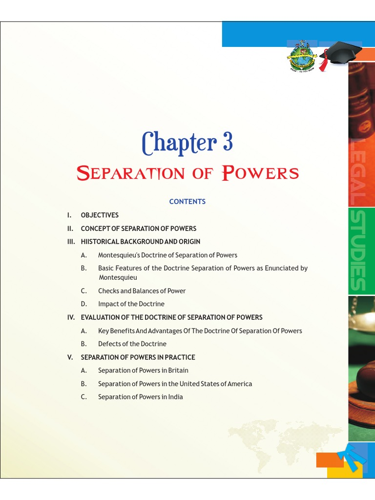 a study of the separation of powers Class prep for students: study and work before class principles of separation of powers and checks and balances work in the united states.