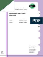 Tra Guidelines HACCP GMP+D2.1
