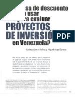 Tasa de Descuento en Venezuela
