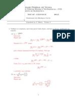 Primeira Prova MAT 147 - UFV
