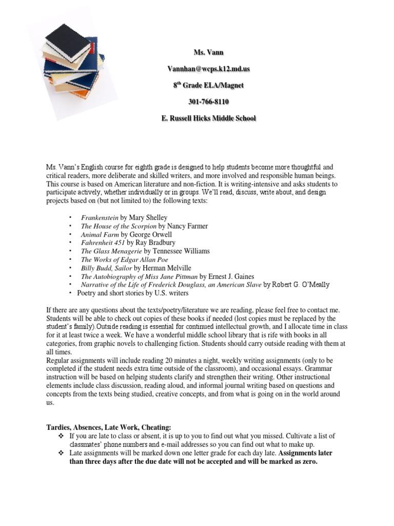 8th grade syllabus-magnet vann | Homework (13 views)