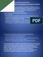 Strategic Management- Analysing a company's external envirnoment