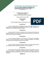 Estatuto de Personal Del Ministerio PÚBLICO