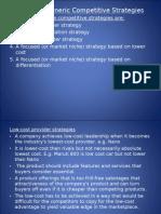 Strategic Management- Generic Competitive Strategies