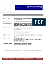 2008 Annual Conference Schedule