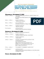 2010 Annual Conference Corporate Agenda for My Rga