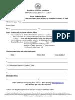 Board Ticketing Form Agenda
