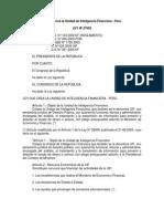 Legislacion - Ley Nº 27693 Creacion de Unidad de Inteligencia Financiera