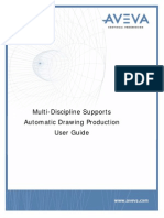Multi-Discipline Supports Automatic Drawing Production User Guide