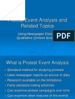 Protest Event Analysis and Related Topics