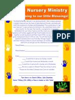 Nursery Quarterly Sign Up