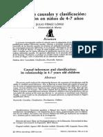 Inferencias Causales y Clasificación Su Relación en Niños de 4 7 Años
