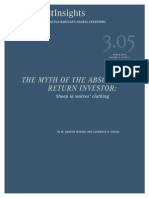 Myth of the Absolute Return Investor