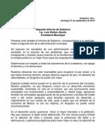 Discurso- 2º Informe - Presidente Municipal de Acapulco - Luis Walton