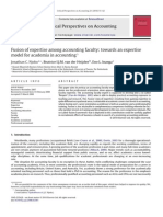 Fusion of Expertise Among Accounting Faculty Towards an Expertise Model for Academia in Accounting 2010 Critical Perspectives on Accounting