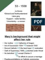 Mary I 1553 - 1558