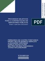 Processos Seletivos Para a Contratação de Servidores Públicos - Brasil, o País Dos Concursos