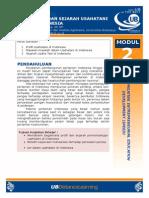 profil usahatani modul