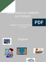 Presentación de Legislación Del Comercio Electrónico..