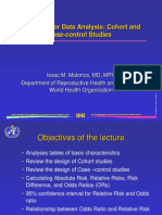 Lecture 08. Strategies for Data Analysis Cohort and Case Control Studies.ppt