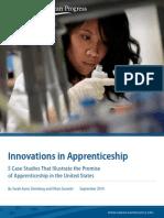 Innovations in Apprenticeship