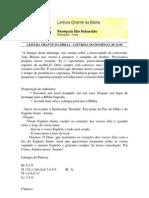 LEITURA ORANTE DA BÍBLIA 06-12-09