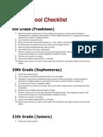 Highschool Checklist