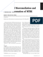 A Review of Bio Remediation and Natural Attenuation of MTBE