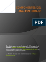 Componentes de Analisis Del Diseño Urbano