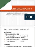 Evaluacion Serv. Medicina 2014