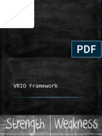 VRIO FRAMEWORK WITH REALTIME EXAMPLE
