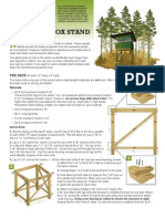 Free Deer Stand Plans | Framing (Construction) | Screw