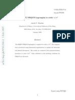 The HQET/NRQCD Lagrangian to order α/m3