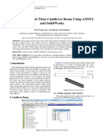 Modal Analysis of Titan Cantilever Beam Using ANSYS and SolidWorks