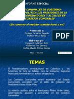 Mba- Consejos Comunales Del Presidente Alvaro Uribe Colombia-Inocencio Melendez Julio