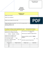 Med Clinical Nutrition New Patient Form