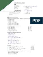 Operaciones Combinadas de Nc3bameros Enteros