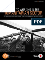 Pathways to working in the Humanitarian Sector 2014