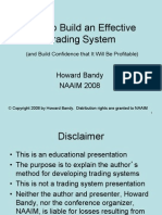 Bandy How to Build Trading Sys