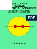 H. F. Weinberger - A First Course in Partial Differential Equations With Complex Variables and Transform Methods