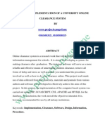 Design and Implementation of a University Online Clearance System