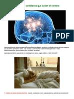 10 Habitos Cotidianos Que Dañan El Cerebro