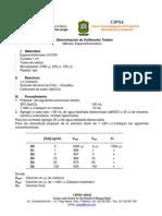 Determinacion de Polifenoles Totales