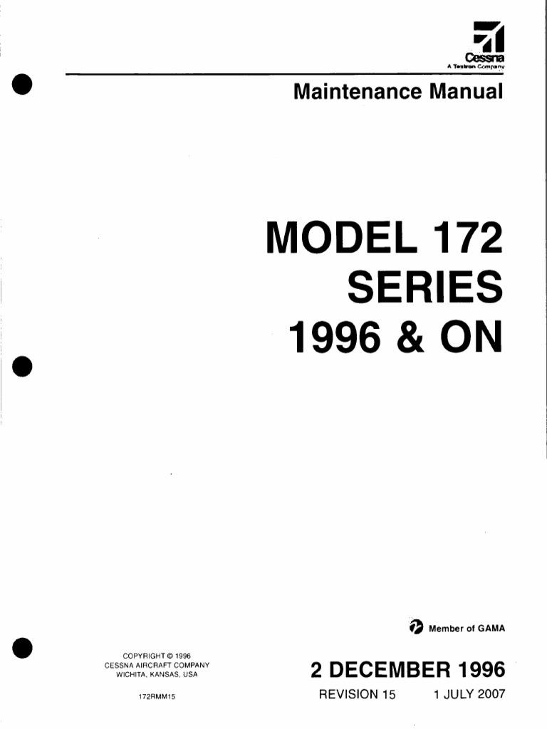 cessna 172 maintenance manual airplane aeronautics rh es scribd com Cessna 172 Performance Charts Cessna 172 Skyhawk