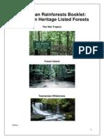 australian rainforests booklet edla309