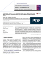 006 - Theoretical Study of a New Thermodynamic Power Cycle for Thermal Water Pumping Application
